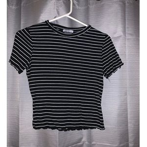Striped lettuce edge tshirt